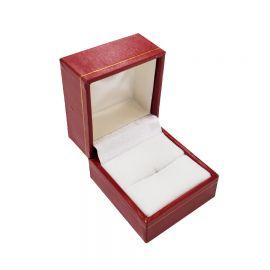 "CLASSIC LEATHERETTE RING BOX,1 3/4"" Wx 2"" L x 1 1/2"" H, RED, 12Pcs"