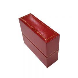 """1 1/4"""" W x 3 3/4"""" L x 3  1/4"""" H Classic Leatherette Bangle Box, Red,  12 Pcs"""