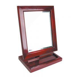 Mirror Display Rosewood Finish Mirror Rosewood