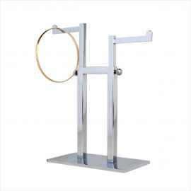 """2- Way Miniature Jewelry Rack, Frame: 4 3/4""""(H) , Adjustable Arm, Pack of 10"""
