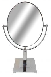 """Dual Mirror Size , 8 1/2""""(W) X 10 1/2""""(H), Base Size 6"""" X 6"""", Overall Height: 16 1/2"""""""
