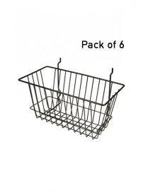"Narrow Basket, 12""(L) X 6""(W) X 6""(H), Pack Of 6"