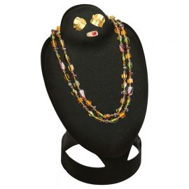 """Foldable Combination Neck Form Jewelry Display 12""""(H) / Black"""