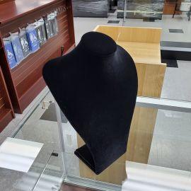 """Velvet Neck Form Necklace Display 11 1/2""""(H) / Black"""
