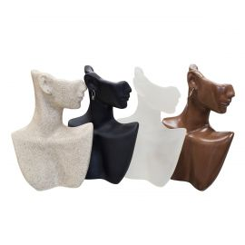 Colored Polystyrene Figure for Plastic Necklace & Earring Display