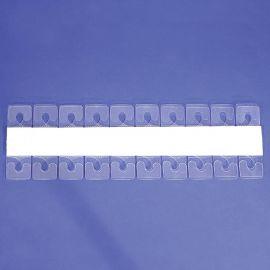 Clear Plastic J-Hook Hang Tab, 200 pcs / Pkg