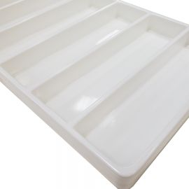 Stackable Compartment Tray, 6 Compartment - White