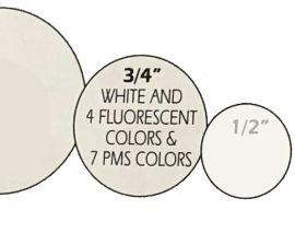 """All Purpose Label, 3/4"""" Round, Fluorescent-Orange, 1 Roll"""