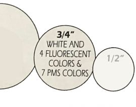 "All Purpose Label, 3/4"" Round, Fluorescent-Red, 1 Roll"