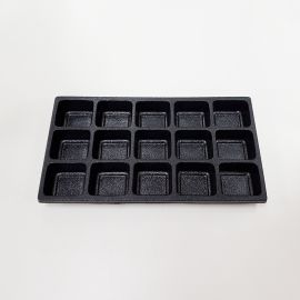 Durable Plastic Tray Liner 15 Compartment / Black