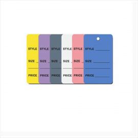 """Price Tags, 1.25"""" x 1.875"""", Grey Price Tag, Pack of 1,000"""