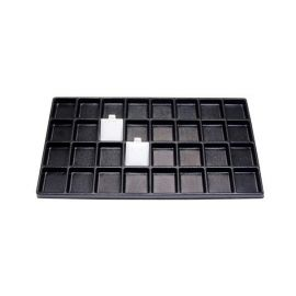 Durable Plastic Tray Liner 32 Compartment / Black