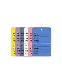 """Perforated Price Tag, 1.25"""" x 1.875"""", Yellow Small Price Tag, Pack of 1,000"""