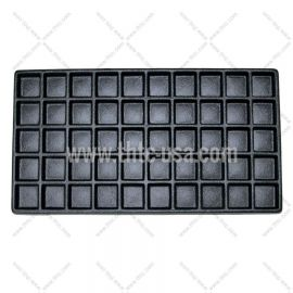 Durable Plastic Tray Liner 50 Compartment / Black
