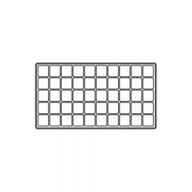 Durable Plastic Tray Liner 50 Compartment / White