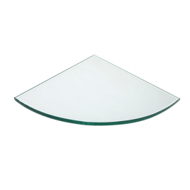 """14"""" Quarter Round Tempered Glass, 3/16"""" (T), Pack of 10"""