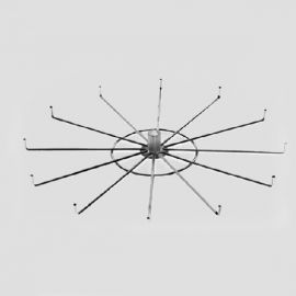"63""H Floor Rack, 4 Tier 12 Hook Spinner"