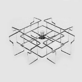 "63""H Floor Rack, 4 Tier CD Spinner"