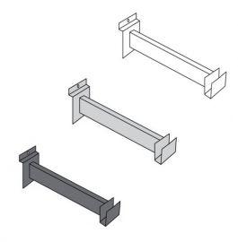 """12"""" Hangrail Bracket Holds Rectangular Tubing For Slatwall"""
