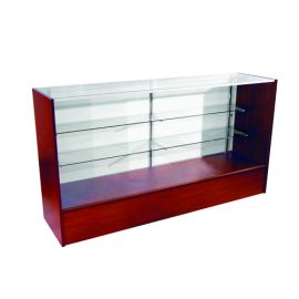 """Full Vision Showcase 48""""(L) X 18""""(W) X 38""""(H) with adjustable 8"""" and 10"""" Glass Shelves"""