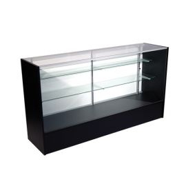 """Full Vision Showcase 70""""(L) X 18""""(W) X 38""""(H) with adjustable 8"""" and 10"""" Glass Shelves"""