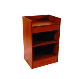 "Cash Register Stand, 24""(L) X 18""(W) X 38""(H), 1"" Wood Shelf, 4"" High Drawer - White, Black, Walnut, Maple, Cherry"