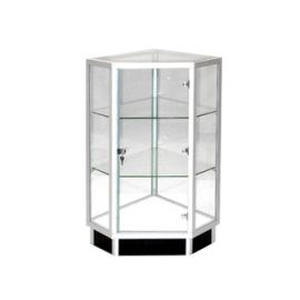 """Extra Vision Corner Filler/Case with Front Swing Door & Lock, 20""""Square X 38""""(H)"""