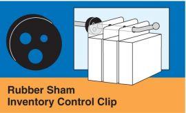 RUBBER SHAM - INVENTORY CONTROL CLIP, 100 pcs