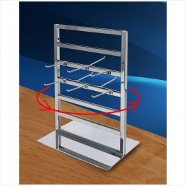 """2 Way Spinning Jewelry Tower, 15 1/2""""(H) X 11 1/2""""(L), Base: 11 1/2"""" X 4 1/2"""", 3"""" Hooks Sold Separetely"""