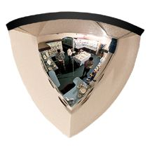 """90 Quarter Dome Mirror, 1/4 Of 24""""(D), Mounting Clips Included"""