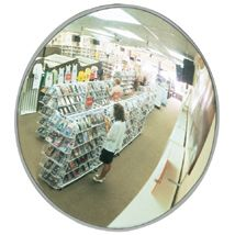 """Convex Circular Mirror, 24""""(D), Mounting Clips Included"""