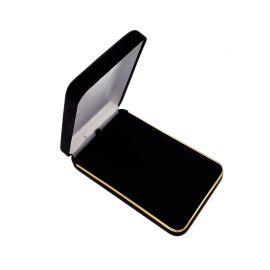 Velvet Metal Necklace Box With Gold Trim, 6 pcs/pk, Black