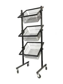 """T-Shaped Leg 3 Tier Wire Rack, 22 1/2""""(L) X 18""""(W) X 7""""(D) X 17 1/2""""(H)"""