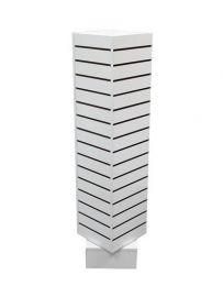 "Slatwall Rotating Unit, 12""(L) X 12""(W) X 54""(H), White"