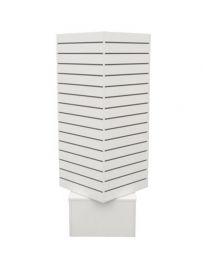 "Slatwall Rotating Tower, 20""(L) X 20""(W) X 60""(H), White"