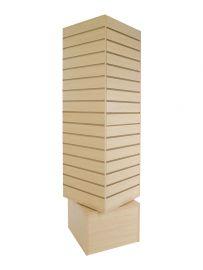"""Slatwall Rotating Tower, 20""""(L) X 20""""(W) X 60""""(H), Maple"""