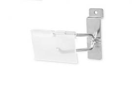 """Slatwall Scanner Hooks, 4"""", With Label Holder, Pack of 100"""