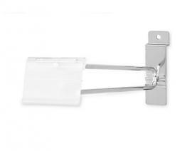 """Slatwall Scanner Hooks, 8"""", With Label Holder, Pack of 100"""