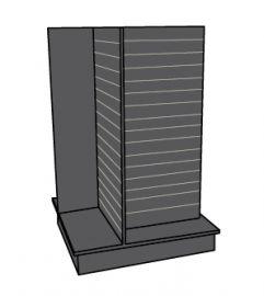 Slatwall 4-Way Display - Black