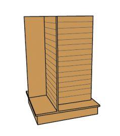 Slatwall 4-Way Display - Maple