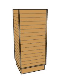 Slatwall Cubic Tower - Maple