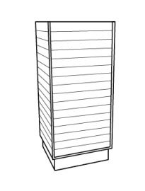 Slatwall Cubic Tower - White