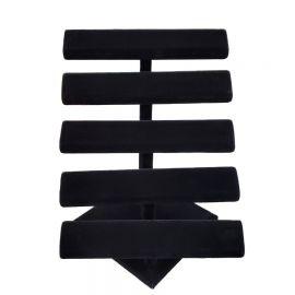Five Tier Velvet T-Bar Color: Black , white