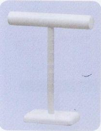 18'' Single White Leather T-Bar Display 14''(W)X4''(D)X18''(H)
