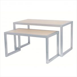 """Laminated Maple Wood Tables, 2"""" Tubing Construction, 50""""(L) x 26""""(W) x 24""""(H)"""