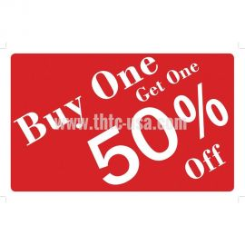 Plastic Message Sign / Buy One Get One 50% Off