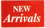 Plastic Message Sign New Arrivals Red