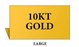 Jewelry Metal Sign, Large, Goldtone, 10kt Gold