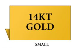 Jewelry Metal Sign, Small, Goldtone, 14K Gold