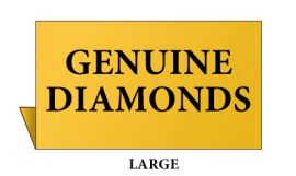 Jewelry Metal Sign, Large, Goldtone ,Genuine Diamonds